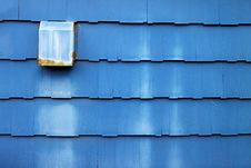 Free Dusty Blue Wooden Shingles Royalty Free Stock Images - 14841379