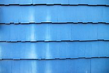 Dusty Blue Wooden Shingles Stock Images