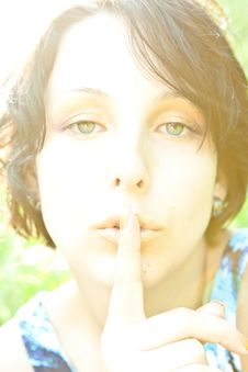 Free Woman Asking For Silence Stock Photos - 14841913