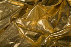 Free Abstract Gold Fabric Fold Royalty Free Stock Image - 14842316