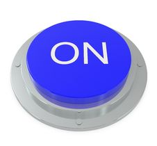 Free Blue Button Isolated On White Royalty Free Stock Photo - 14842435