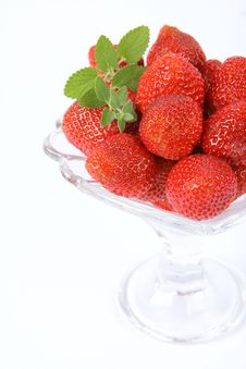 Strawberries In A Cup Royalty Free Stock Photos