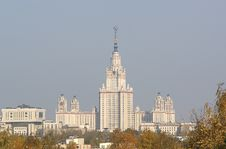 Free Central Building M. V. Lomonosov Moscow State Univ Royalty Free Stock Images - 14844409