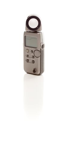 Free Photographic Light Meter On White Royalty Free Stock Photography - 14844757