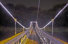 Crossing The Bridge Into Dark Royalty Free Stock Image