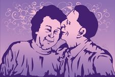 Free The Elderly Love Stock Image - 14845371
