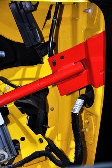 Internal Configuration Of Bumper Car Stock Photography
