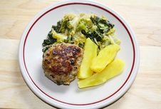 Free Meat Ball With Potatoes, Savoy Cabbage Stock Image - 14845961