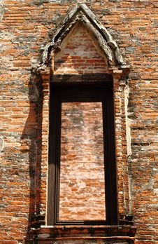 Free Ancient Temple Window Royalty Free Stock Photography - 14846117