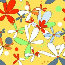 Free Seamless Floral Background Royalty Free Stock Image - 14846426
