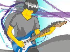 Free Gitarist Royalty Free Stock Image - 14847106