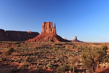 Free Monument Valley At Sunset Stock Photography - 14847152