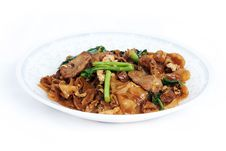 Fried Noodle With Pork Royalty Free Stock Photography