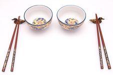 Chop Sticks And Bowl Royalty Free Stock Photos