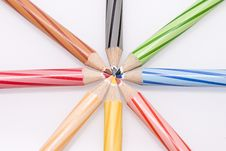 Free Group Of Colour Pencil Stock Photos - 14847403