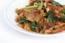 Free Fried Noodle With Pork Stock Photography - 14847492