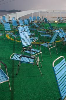 Free Abandoned Deckchairs Stock Photography - 14847682