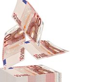 Free Falling Euros Stock Image - 14848281