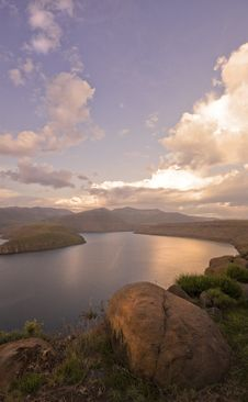 Free Dam Sunset Stock Image - 14849831