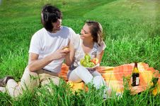 Free Boy And Girl With Fruits Royalty Free Stock Image - 14849926