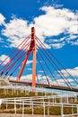 Free Pedestrian Bridge Over Highway. Stock Photos - 14857233