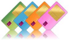 Free Sim Cards Royalty Free Stock Photos - 14850028