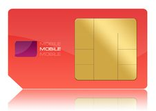 Free Red Sim Card Royalty Free Stock Photography - 14850037