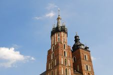 The Tower Of Mariacki Church In Cracow Royalty Free Stock Photos