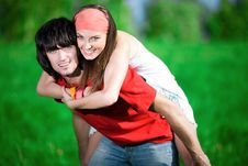 Free Boy With Long-haired Girl Royalty Free Stock Photo - 14850485