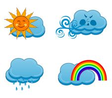 Free Weather Icons Royalty Free Stock Photo - 14850515