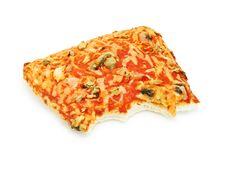 Bitten Pizza Slice Stock Photos