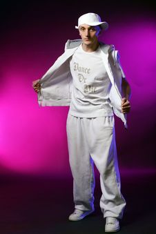 Hip Hop Dancer In Studio Royalty Free Stock Images