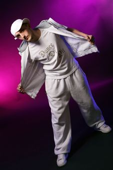 Hip Hop Dancer In Studio Stock Photography