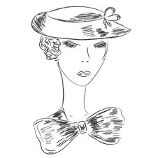 Free Retro Woman Sketch Royalty Free Stock Photography - 14851117