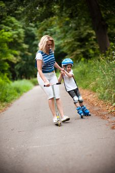 Free Mother And Son  - First Steps Stock Image - 14851151