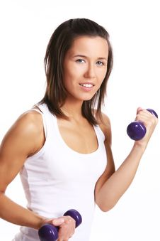 Free Attractive Girl Doing Fitness Exercises Royalty Free Stock Image - 14851166