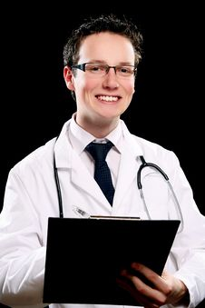Young And Attractive Doctor Assistant Stock Photos