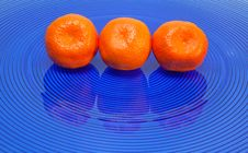 Free Three Tangerines Stock Photography - 14851442