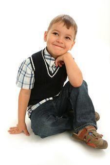 Little Naughty Boy Stock Photo