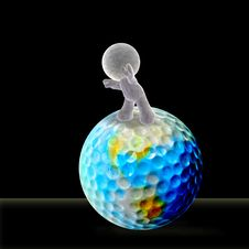 Free Rolling A Golf Ball Forward Royalty Free Stock Photography - 14851657