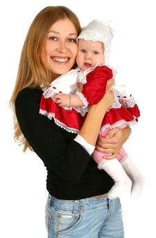 Free Young  Mother With Baby Girl Stock Photography - 14851802