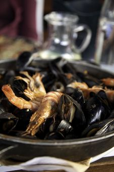 Free Mussels With Shrimp Stock Photography - 14852052