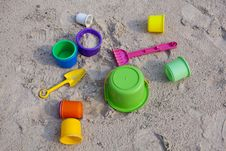 Free Toys On Sand Stock Photos - 14853323