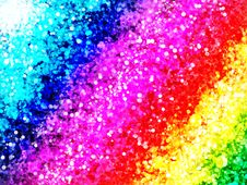 Free Rainbow In Dots Royalty Free Stock Photography - 14853387