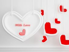 Free Hearts, 3D Render Stock Photography - 14853732