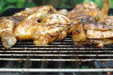 Chicken On Grill Royalty Free Stock Photography