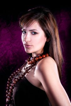 Free Young Beautiful Elegant  Brunette Stock Photos - 14854443