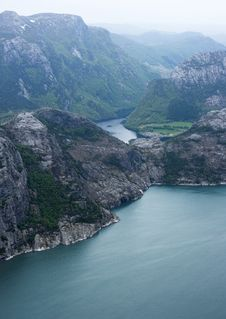 Lysefjord Stock Image