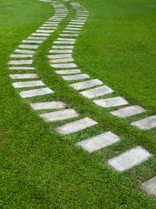 Free Curve Way On Grass Royalty Free Stock Photography - 14854557