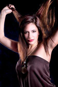 Free Young Beautiful Elegant  Brunette Stock Photos - 14854593